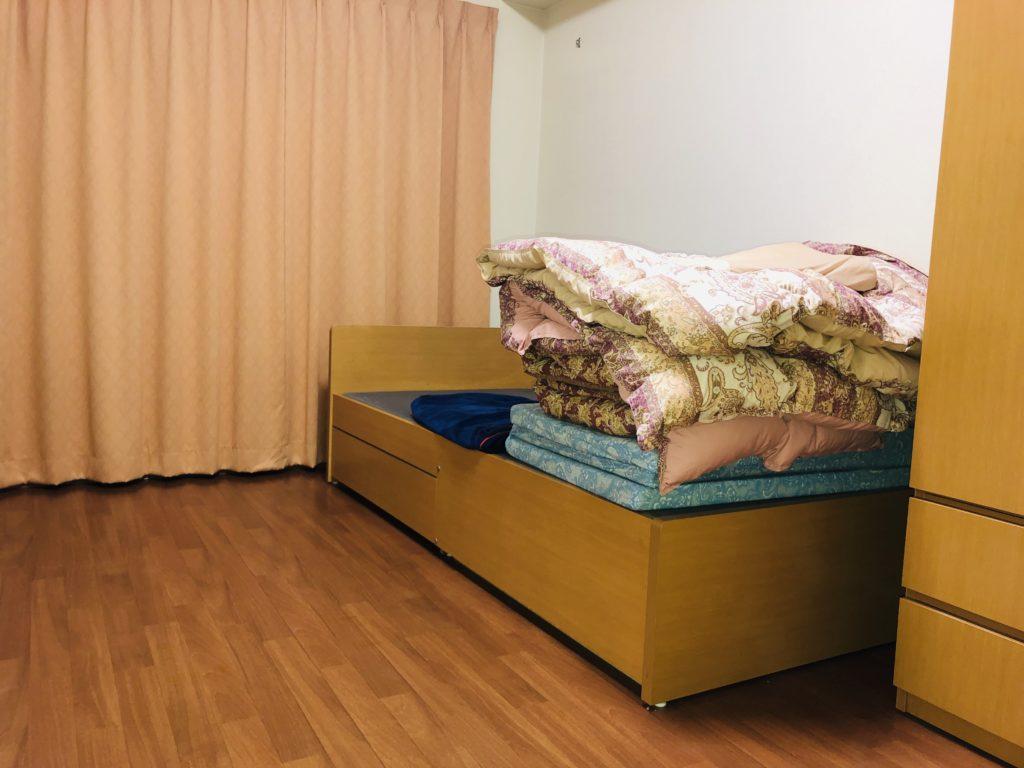 トヨタ期間工のベッドと布団